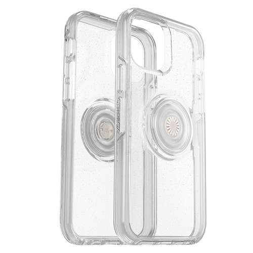 Otterbox - Otter  Pop Symmetry Case With Popsockets Swappable Popgrip for Apple iPhone 12  /  12 Pro - Stardust
