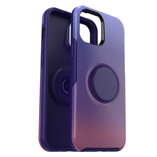 Otterbox - Otter  Pop Symmetry Case With Popsockets Swappable Popgrip for Apple iPhone 12 Pro Max - Violet Dusk