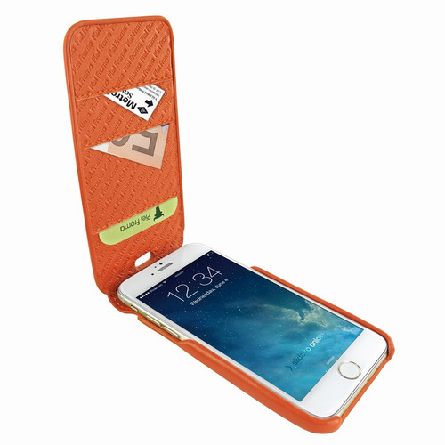 Piel Frama 765 Orange iMagnumCards Leather Case for Apple iPhone 7 Plus / 8 Plus