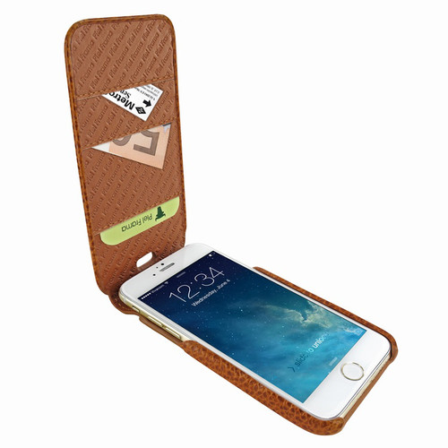 Piel Frama 765 Tan Karabu iMagnumCards Leather Case for Apple iPhone 7 Plus / 8 Plus