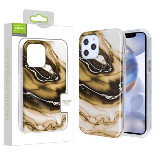 Airium Frame Hybrid Case for Apple iPhone 12 (6.1) - Original Stone Marbling Transparent