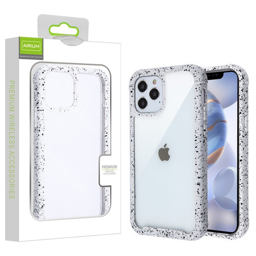 Airium Splash Hybrid Case for Apple iPhone 12 (6.1) - Highly Transparent Clear / White