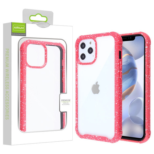 Airium Splash Hybrid Case for Apple iPhone 12 (6.1) - Highly Transparent Clear / Red