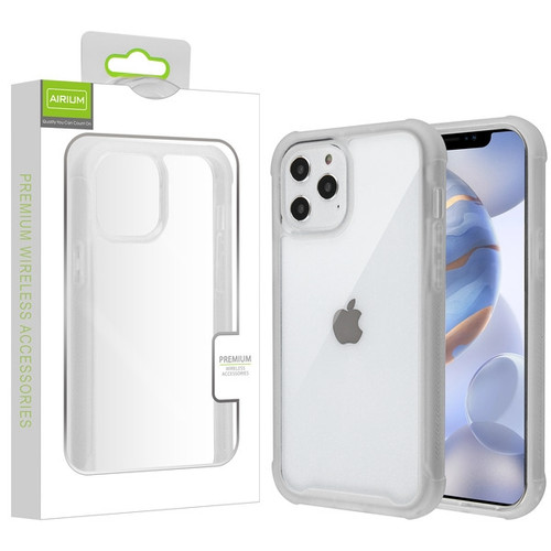 Airium Hybrid Case for Apple iPhone 12 (6.1) - Highly Transparent Clear / Semi Transparent White