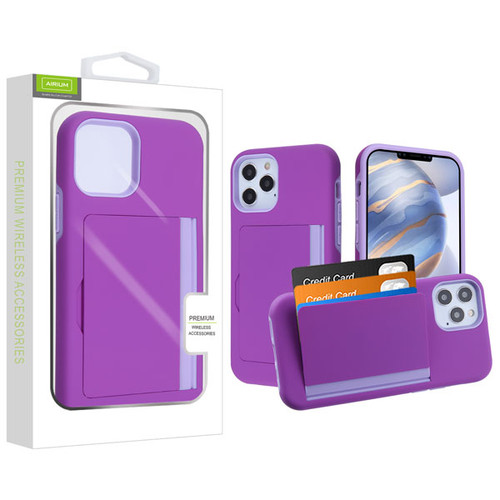 Airium Poket Hybrid Protector Cover for Apple iPhone 12 (6.1) - Purple / Light Purple
