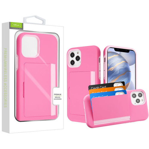 Airium Poket Hybrid Protector Cover for Apple iPhone 12 (6.1) - Pink / Soft Pink