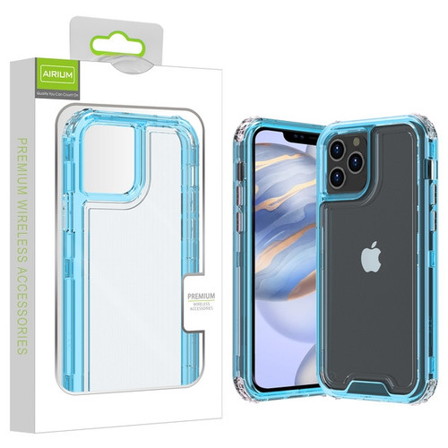 Airium Hybrid Protector Cover for Apple iPhone 12 (6.1) - Transparent Baby Blue / Transparent Clear