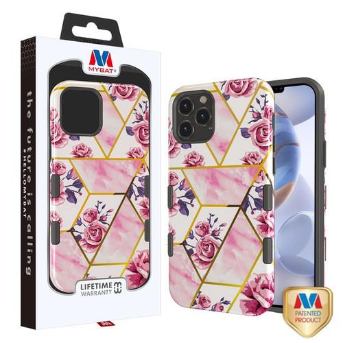 MyBat TUFF Subs Hybrid Case for Apple iPhone 12 (6.1) - Roses Marble / Black