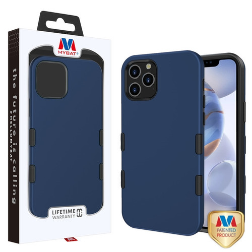 MyBat TUFF Subs Hybrid Case for Apple iPhone 12 (6.1) - Rubberized Ink Blue / Black