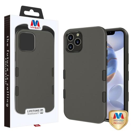 MyBat TUFF Subs Hybrid Case for Apple iPhone 12 (6.1) - Rubberized Gunmetal Gray / Black