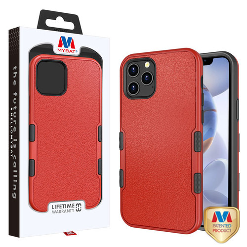 MyBat TUFF Subs Hybrid Case for Apple iPhone 12 (6.1) - Natural Red / Black