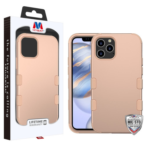 MyBat TUFF Hybrid Protector Cover [Military-Grade Certified] for Apple iPhone 12 (6.1) - Rose Gold / Rose Gold