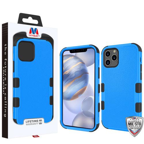 MyBat TUFF Hybrid Protector Cover [Military-Grade Certified] for Apple iPhone 12 (6.1) - Natural Dark Blue / Black