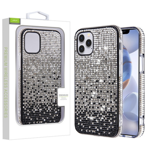 Airium Crystals Sparks Case for Apple iPhone 12 (6.1) - Black Gradient