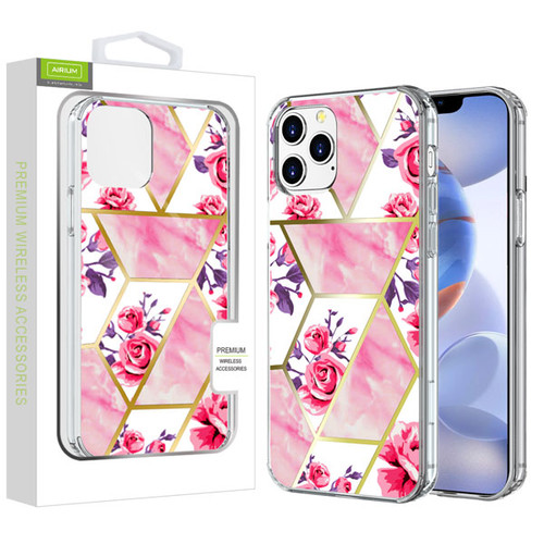 Airium Fusion Protector Cover for Apple iPhone 12 (6.1) - Electroplated Roses Marbling