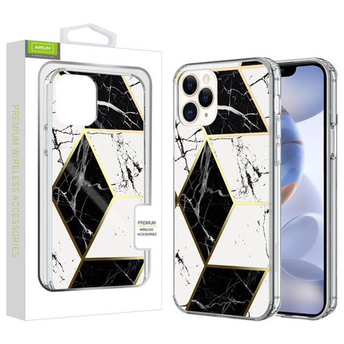 Airium Fusion Protector Cover for Apple iPhone 12 (6.1) - Electroplated Black Marbling