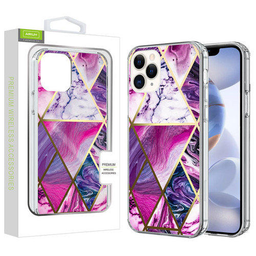 Airium Fusion Protector Cover for Apple iPhone 12 (6.1) - Electroplated Purple Marbling