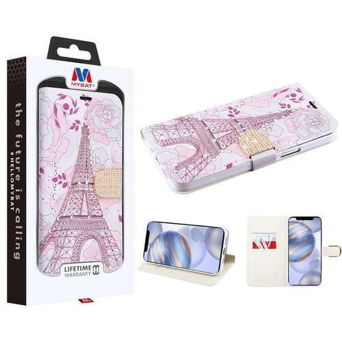 MyBat MyJacket Wallet Diamond Series for Apple iPhone 12 (6.1) - Eiffel Tower