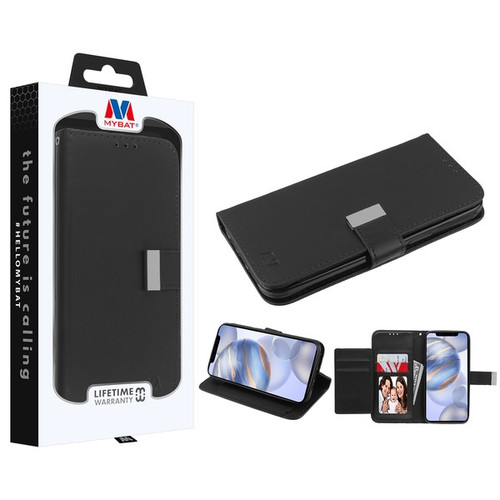 MyBat MyJacket Wallet Xtra Series for Apple iPhone 12 (6.1) - Black / Black
