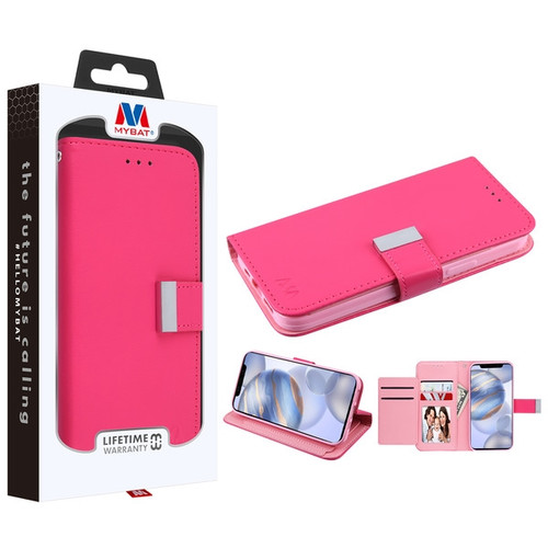 MyBat MyJacket Wallet Xtra Series for Apple iPhone 12 (6.1) - Hot Pink / Pink