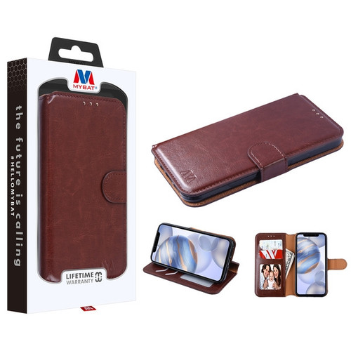 MyBat MyJacket Wallet Element Series for Apple iPhone 12 (6.1) - Brown