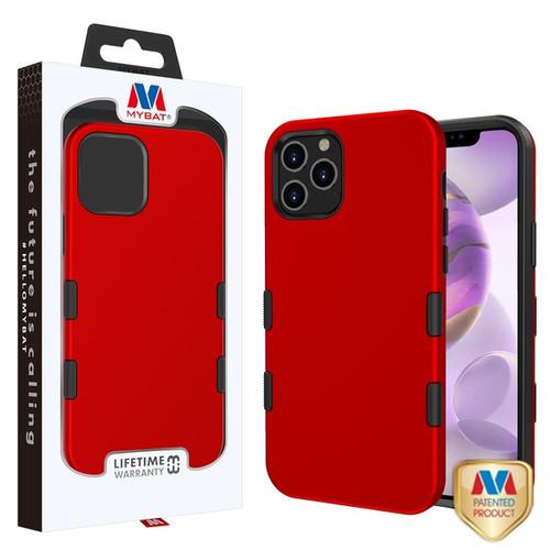 MyBat TUFF Subs Hybrid Case for Apple iPhone 12 Pro Max (6.7) - Titanium Red / Black