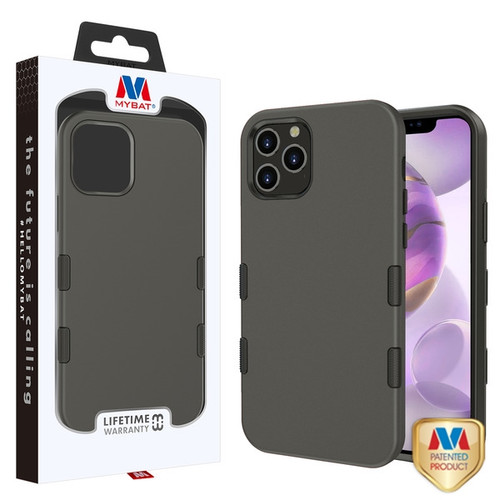 MyBat TUFF Subs Hybrid Case for Apple iPhone 12 Pro Max (6.7) - Rubberized Gunmetal Gray / Black