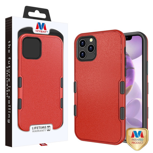 MyBat TUFF Subs Hybrid Case for Apple iPhone 12 Pro Max (6.7) - Natural Red / Black