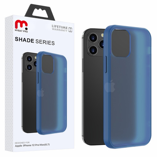 MyBat Pro Shade Series Hybrid Case for Apple iPhone 12 Pro Max (6.7) - Semi Transparent Navy Blue