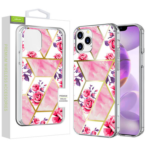 Airium Fusion Protector Cover for Apple iPhone 12 Pro Max (6.7) - Electroplated Roses Marbling