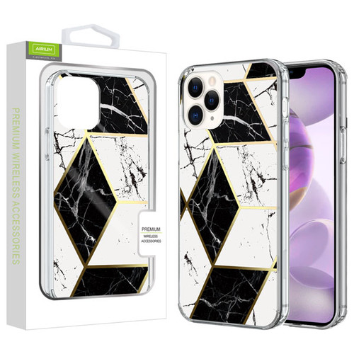 Airium Fusion Protector Cover for Apple iPhone 12 Pro Max (6.7) - Electroplated Black Marbling