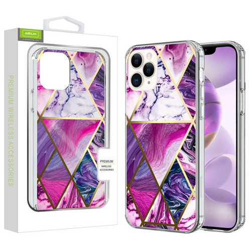 Airium Fusion Protector Cover for Apple iPhone 12 Pro Max (6.7) - Electroplated Purple Marbling