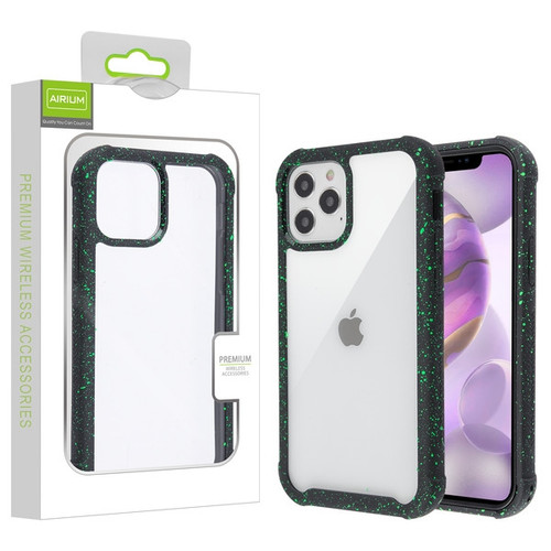 Airium Splash Hybrid Case for Apple iPhone 12 Pro Max (6.7) - Highly Transparent Clear / Black