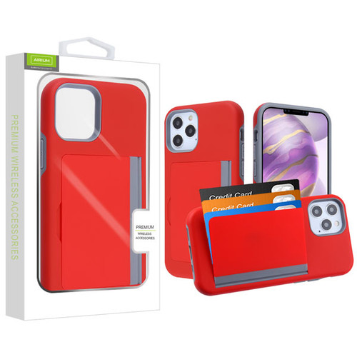 Airium Poket Hybrid Protector Cover for Apple iPhone 12 Pro Max (6.7) - Red / Gray