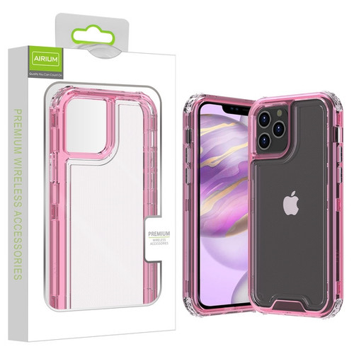 Airium Hybrid Protector Cover for Apple iPhone 12 Pro Max (6.7) - Transparent Pink / Transparent Clear
