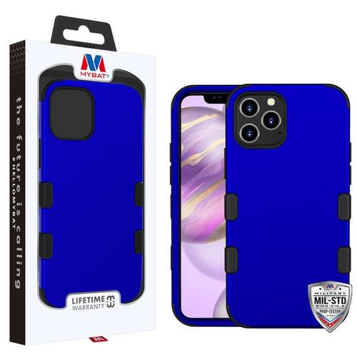 MyBat TUFF Hybrid Protector Cover [Military-Grade Certified] for Apple iPhone 12 Pro Max (6.7) - Titanium Dark Blue / Black