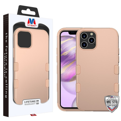 MyBat TUFF Hybrid Protector Cover [Military-Grade Certified] for Apple iPhone 12 Pro Max (6.7) - Rose Gold / Rose Gold