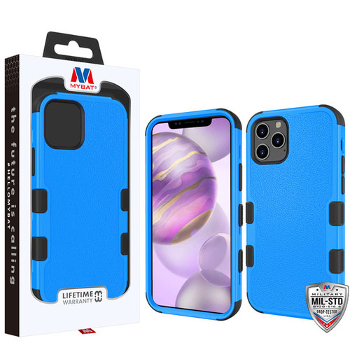MyBat TUFF Hybrid Protector Cover [Military-Grade Certified] for Apple iPhone 12 Pro Max (6.7) - Natural Dark Blue / Black