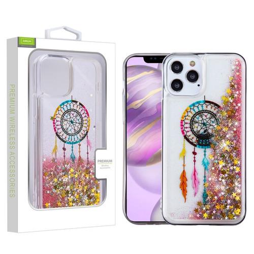 Airium Quicksand Glitter Hybrid Protector Case for Apple iPhone 12 Pro Max (6.7) - Dreamcatcher & Gold Stars