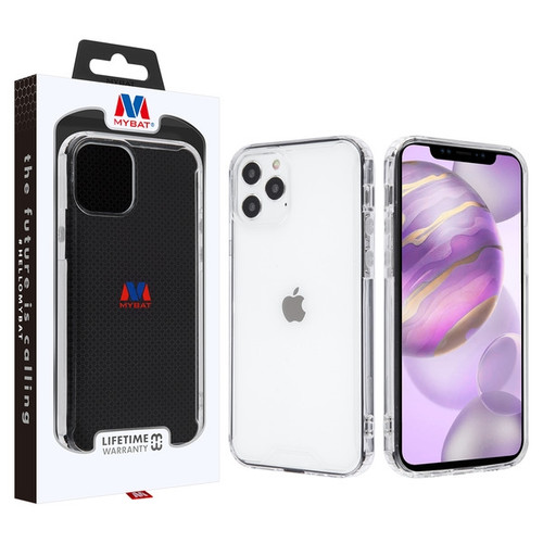 MyBat Sturdy Gummy Cover for Apple iPhone 12 Pro Max (6.7) - Highly Transparent Clear / Transparent Clear