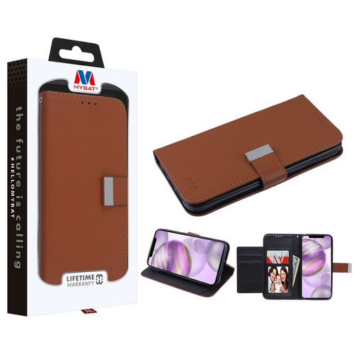 MyBat MyJacket Wallet Xtra Series for Apple iPhone 12 Pro Max (6.7) - Brown / Black