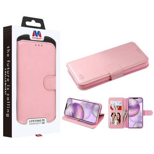 MyBat MyJacket Wallet Element Series for Apple iPhone 12 Pro Max (6.7) - Pink