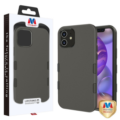 MyBat TUFF Subs Hybrid Case for Apple iPhone 12 mini (5.4) - Rubberized Gunmetal Gray / Black