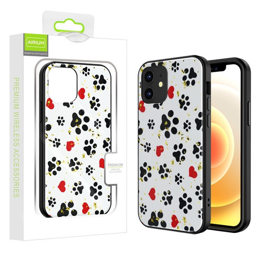 Airium Hybrid Case for Apple iPhone 12 mini (5.4) - Dog Footprints / Black