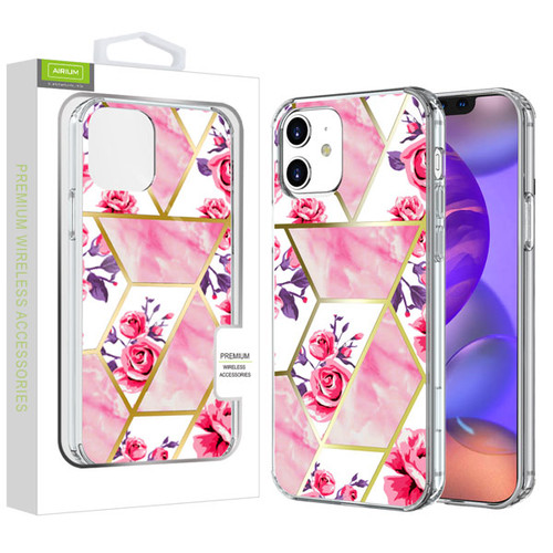 Airium Fusion Protector Cover for Apple iPhone 12 mini (5.4) - Electroplated Roses Marbling
