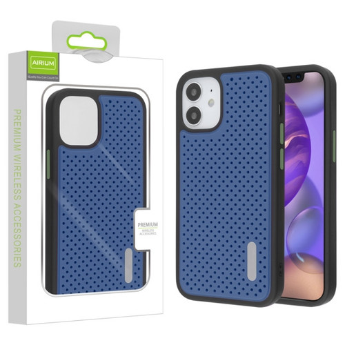 Airium Drilled Holes Hybrid Case for Apple iPhone 12 mini (5.4) - Ink Blue / Black