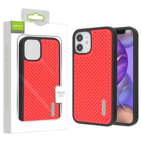 Airium Drilled Holes Hybrid Case for Apple iPhone 12 mini (5.4) - Red / Black