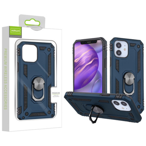 Airium Anti-Drop Hybrid Protector Case (with Ring Stand) for Apple iPhone 12 mini (5.4) - Ink Blue / Black