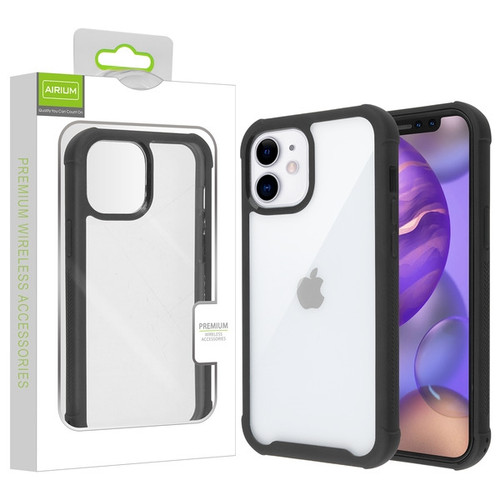 Airium Hybrid Case for Apple iPhone 12 mini (5.4) - Highly Transparent Clear / Black