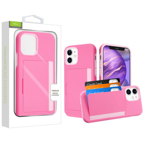 Airium Poket Hybrid Protector Cover for Apple iPhone 12 mini (5.4) - Pink / Soft Pink